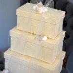 3 Piece Heirloom Wedding Oblong Box Set
