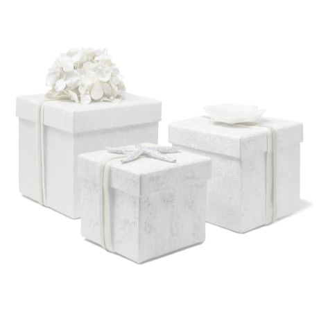 Pearl Peony Embossed – 3 Piece Nested Gift Box Set 2