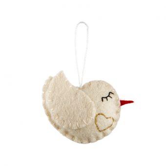 Handmade Felt Sweetheart Dove
