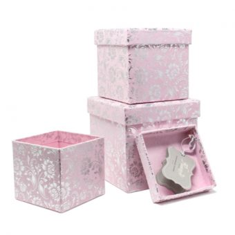 Narcissus Blossoms – 3 Piece Nested Gift Box Set 3