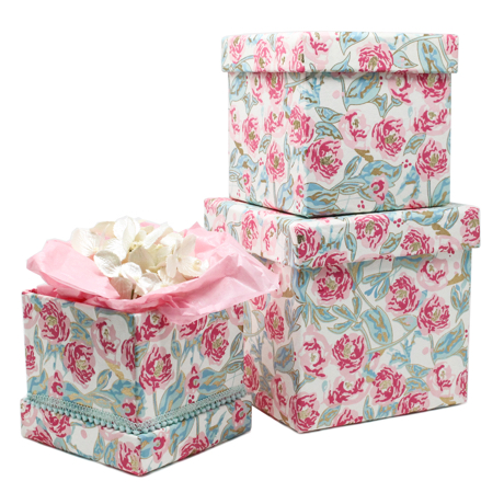 Peonies in Bloom – 3 Piece Nested Gift Box Set 2