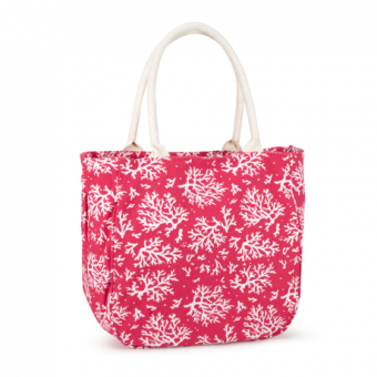 Piper Bucket Tote Coral, Hot Pink