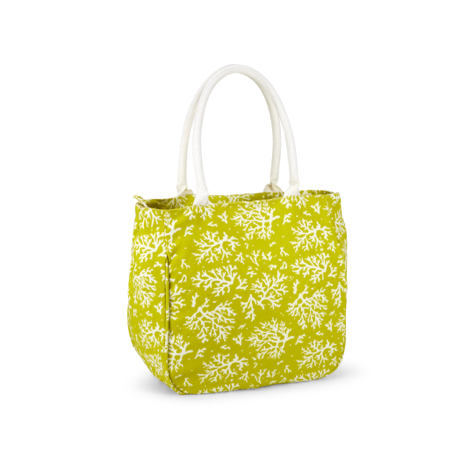 Piper Bucket Tote Coral, Limeade