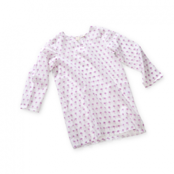 Wee Piper Palm Tunic, Peony Lavender