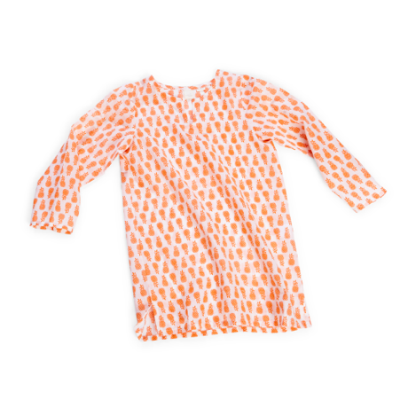 Wee Piper Pineapple Tunic, Tangerine