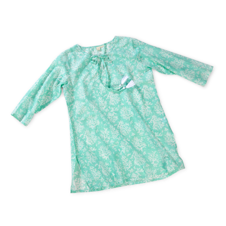 Turks and Caicos Coral Tunic, Bevelled Glass