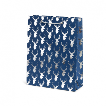 Large Cub Gift Bag – Blue Silver Stag