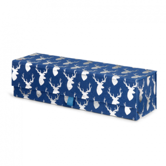 Wine Multi-Use Gift Box – Blue Silver Stag