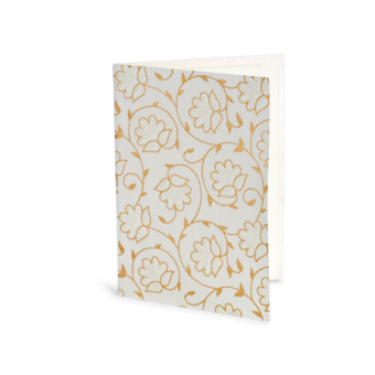 10 PC Notecard Soft Pack – Cream Floral Glitter Blossoms