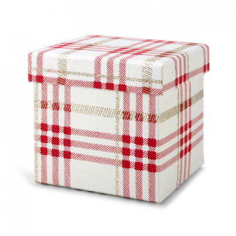 5 Inches Square Box – Red Plaid