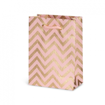 Petite Gift Bag – Rose Gold Chevron