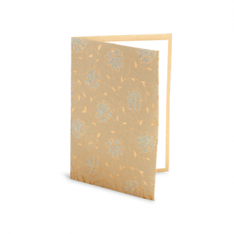 10 PC Notecard Soft Pack – Sandstone Floral Glitter