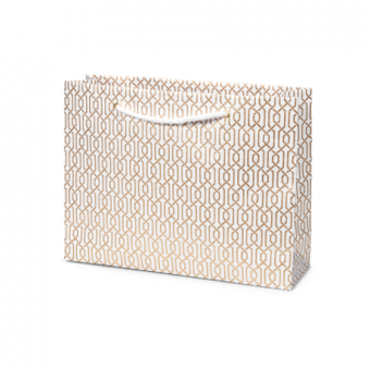 White Gold Links Vogue Gift Bag